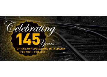 TasRail celebrates the 145th anniversary of railway operations in Tasmania.