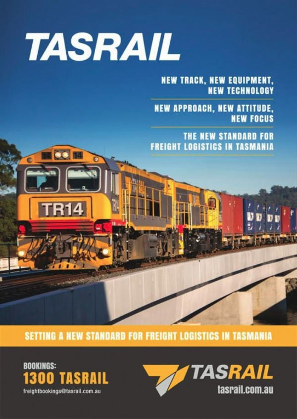 TasRail feature in ALC's Future Freight Network Yearbook