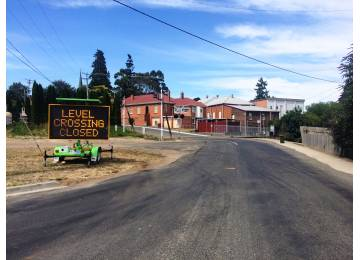 TasRail Public Notice - Road Closure at Deloraine Level Crossing