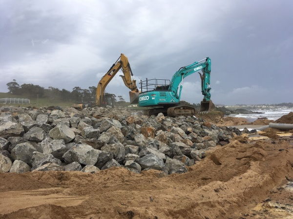 Western Line Coastal Erosion Repair Work