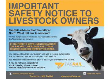 Public Safety Notice - Stock Crossings